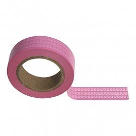 Masking tape spiraal roze