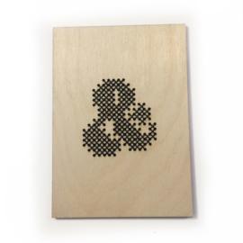 DIY Borduurkaart hout &