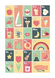 Poster ABC pastel A3