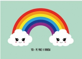 Kaart You and me make a rainbow
