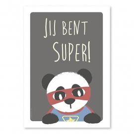 Ansichtkaart Super panda