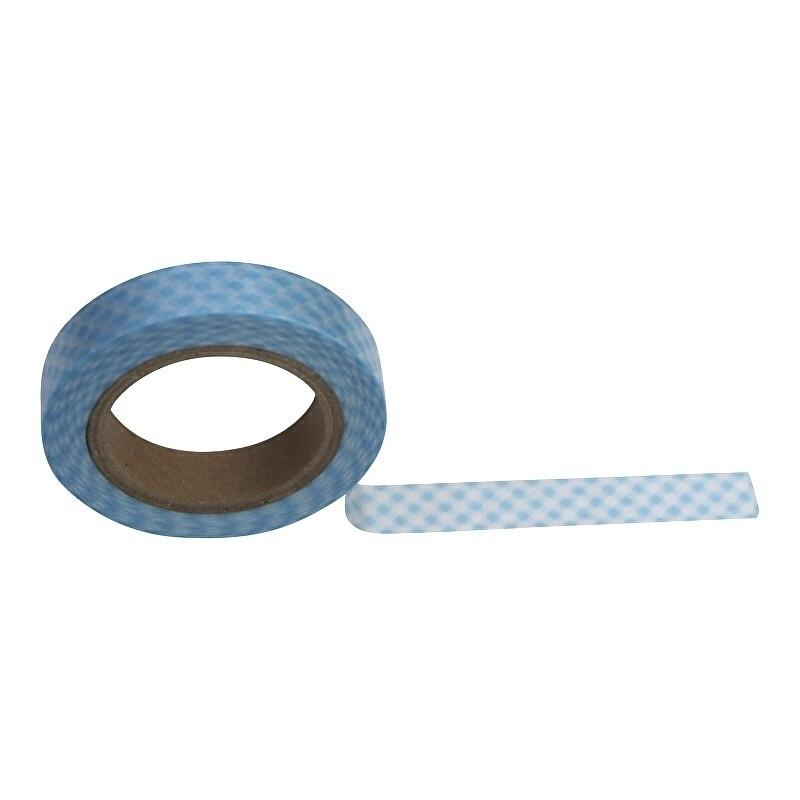 Masking tape geruit blauw