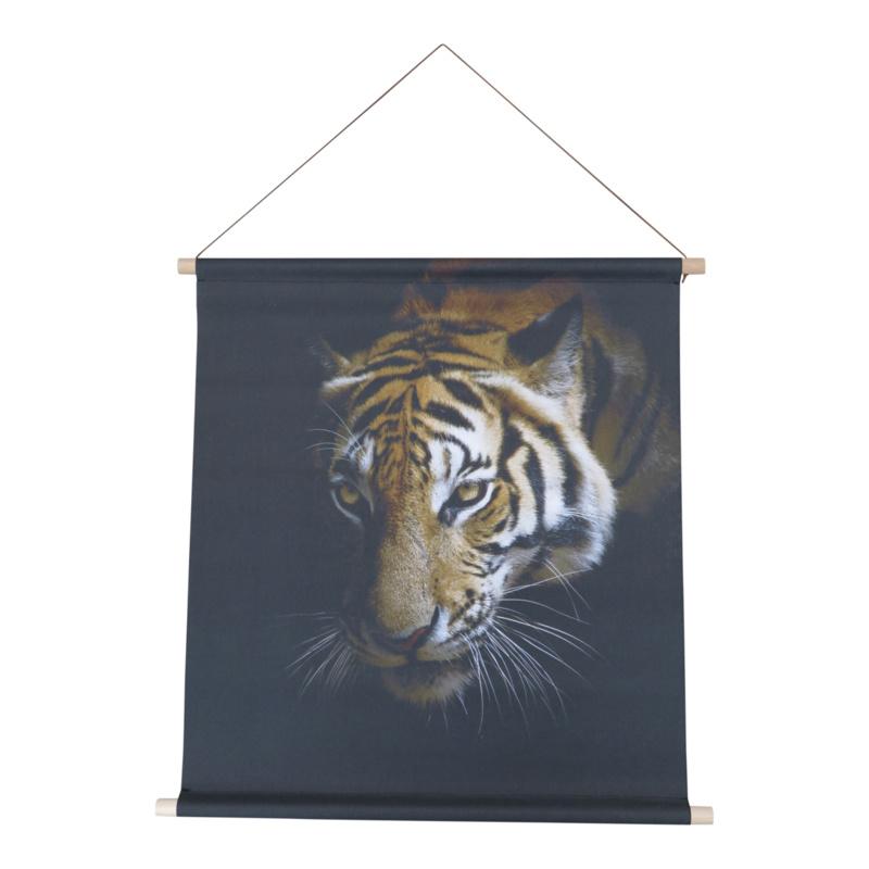 Textiel poster Tijger 68x60 cm