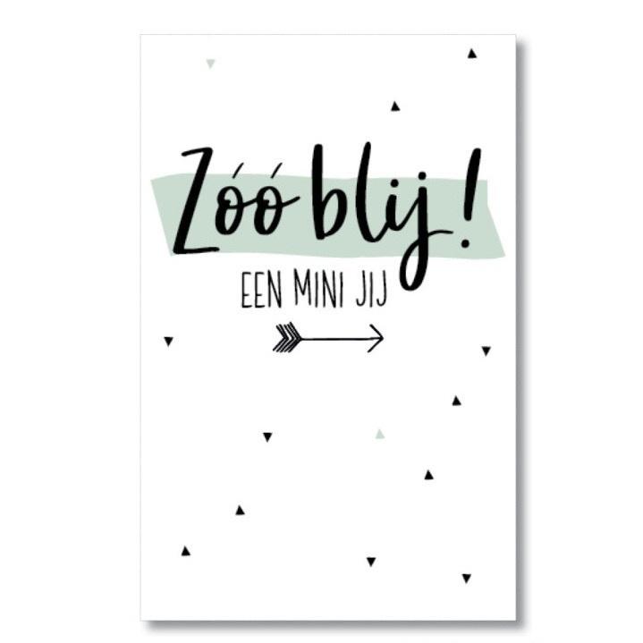 Zo blij! een mini jij - mini-kaart
