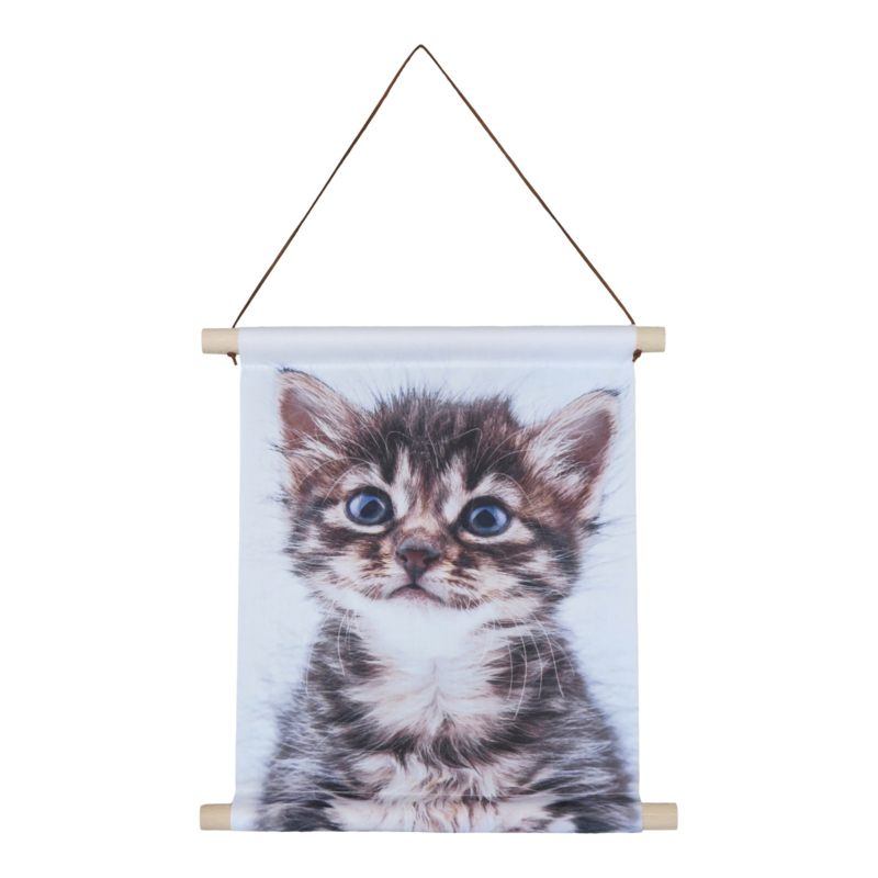 Textiel poster Poesje 38x30 cm