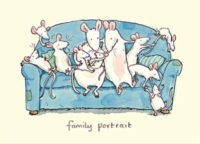 Wenskaart Family Portrait