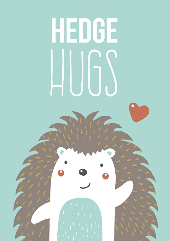 Poster Hedge hugs mint A4