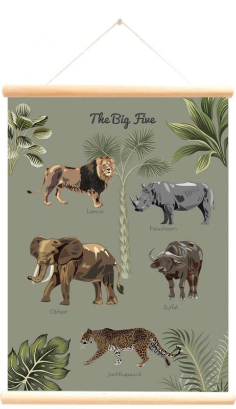 Schoolplaat The big five forest