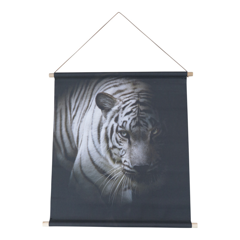 Textiel poster Witte Tijger 68x60 cm