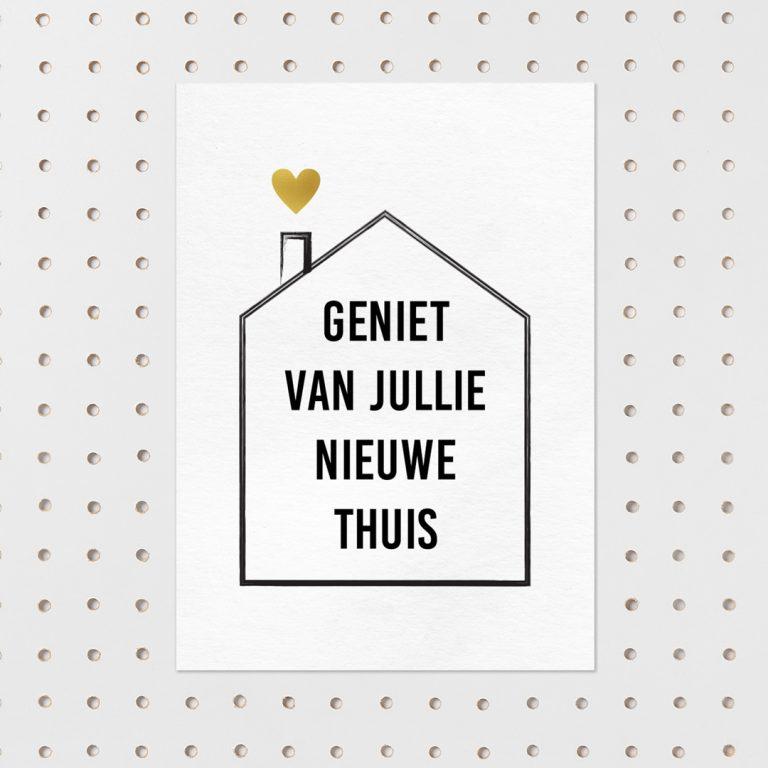 Ansichtkaart Nieuw huis
