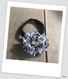 Benty haarbandje - Zwart met printje