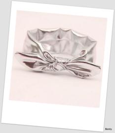 Knoop haarband - Shiny - Zilver