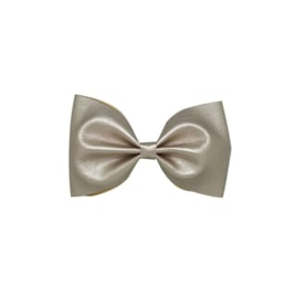 Leather Look Bow - Rose Gold