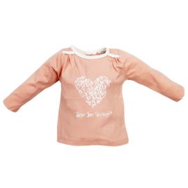 Ducky Beau Longsleeve Dusty Pink Heart - maat 74