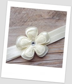 Babyhaarbandje mini ivory lace