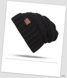Boy's & Girls winter muts  (1 tot 3 jaar) - zwart