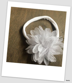 Benty haarbandje - All white met glittertje