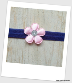 Babyhaarbandje small Navy Pink