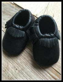 Leather Look Moccasin - Black