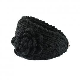 Gebreide haarband zwart