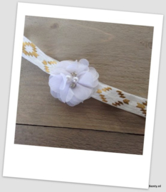 Babyhaarbandje Party White/Gold