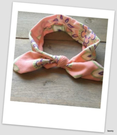 Knoop haarband - Print - Roze
