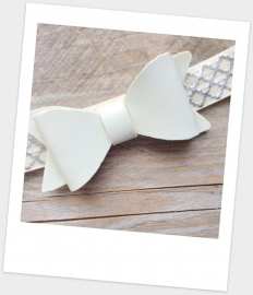 Babyhaarbandje mini bow Ivory
