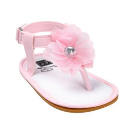 Sandaal -  Bloem - roze