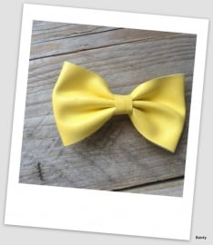 Leather Look Bow - Yellow