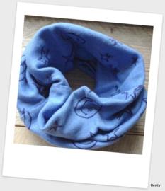 Sjaaltje - Blauw -  Smileys