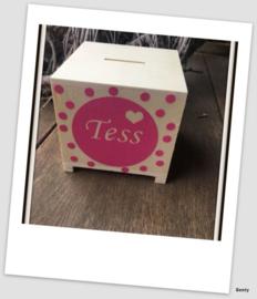Spaarpotje met naam - Tess