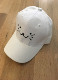 Baseball Cap - White - Kitty