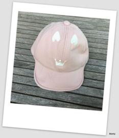 Petje - Kroon/Hartjes - Roze