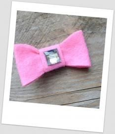 Vilten strik roze