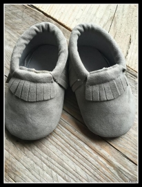 Suede Look Moccasin - Grey