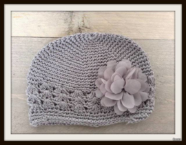 Mutsje Grey- Fluffy flower Grey
