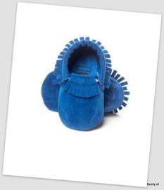Suede Look Moccasin - Blauw