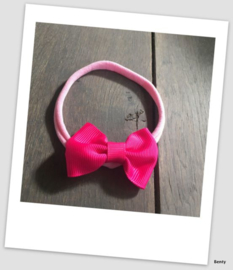 Benty haarbandje - Roze strik