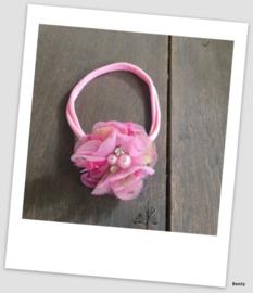 Benty haarbandje - Roze met printje