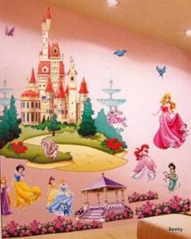Muursticker - Disneyprinsessen