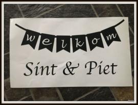 Raamsticker : Welkom Sint & Piet