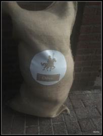Jute Zak met naam -  xxl - Sinterklaas op het paard