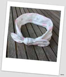 Knoop haarband - Pijltjes - Wit