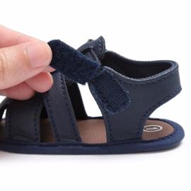Sandaaltje -  Leather look - Donker blauw