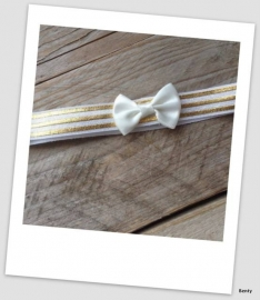 Babyhaarbandje small Gold bow