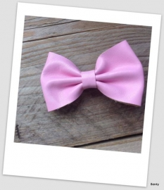 Leather Look Bow - Pink