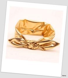 Knoop haarband - Shiny - Goud