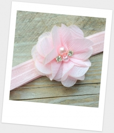 Babyhaarbandje small Pearl bling Pink