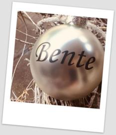 Kerstbal met naam - Zilver glans