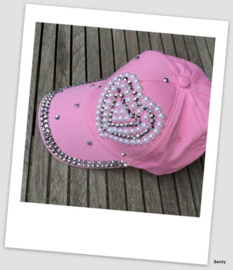 Pet  - Roze -Strass Hart